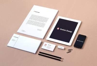 yritysilme, Logosuunnittelua yritykselle Swiss Swap