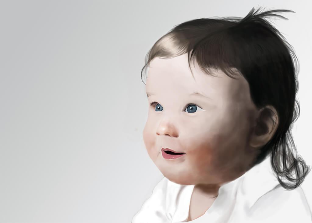 Kuvittaminen | Digitaalinen maalaus lapsesta