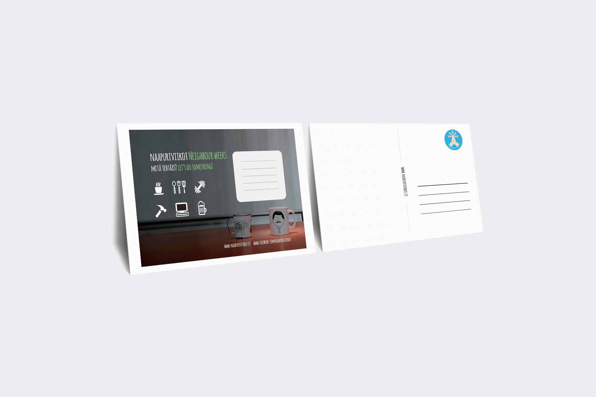 graafinen suunnittelu-koas-postikortit