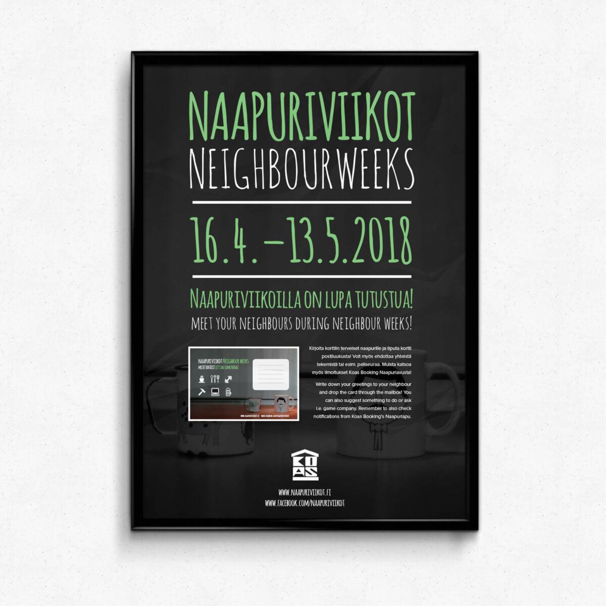 Graafinen suunnittelu, KOAS, Naapuriviikot 2018 juliste