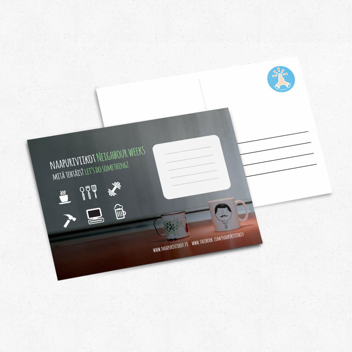 Graafinen suunnittelu, KOAS, Naapuriviikot 2018 kortti