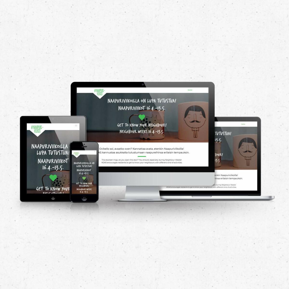 graafinen-suunnittelu-Naapuriviikot 2018 nettisivut