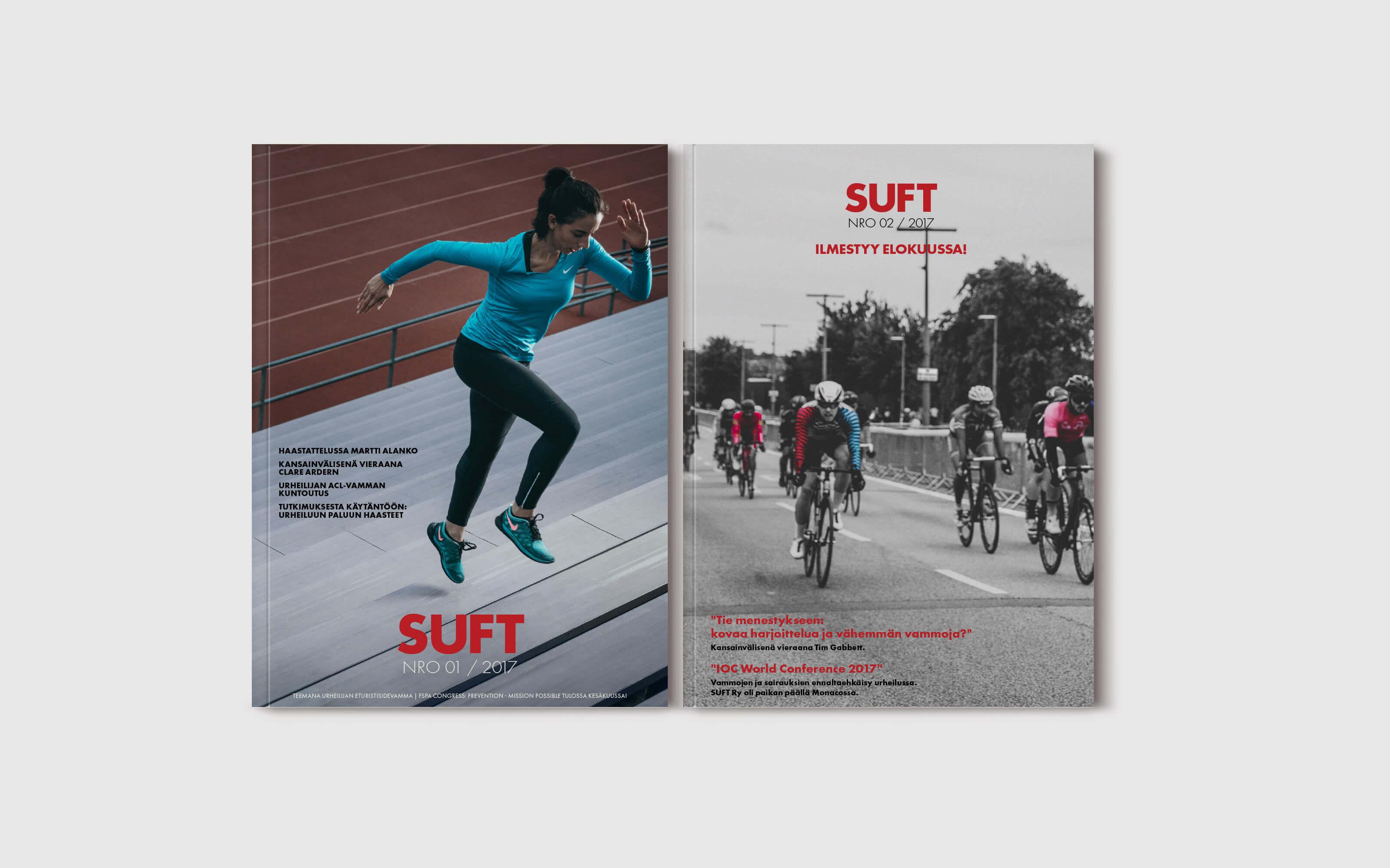 Graafinen suunnittelu, Suomen urheilufysioterapeutit, lehti numero 1