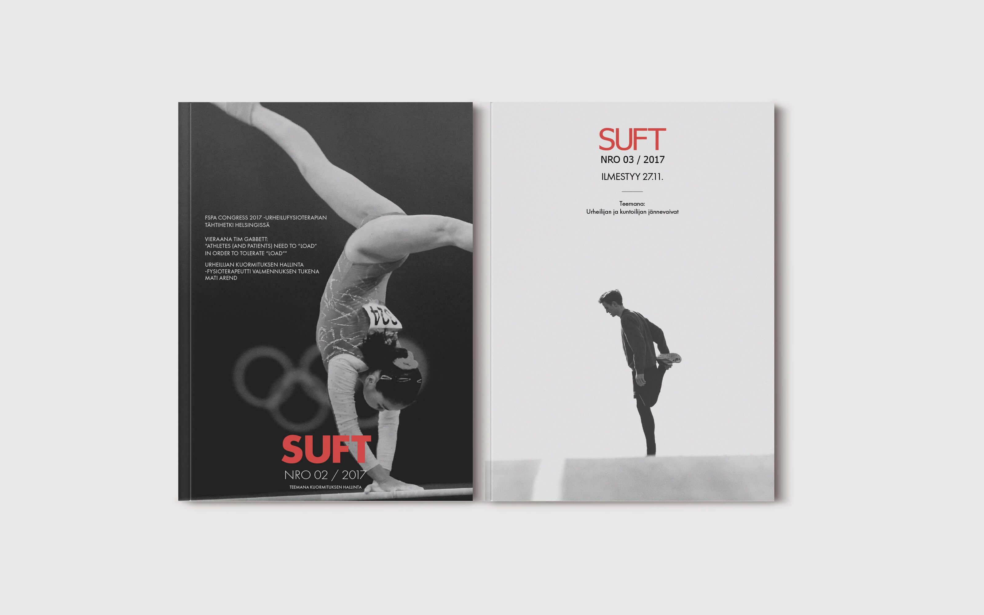 Graafinen suunnittelu, Suomen urheilufysioterapeutit, lehti numero 2
