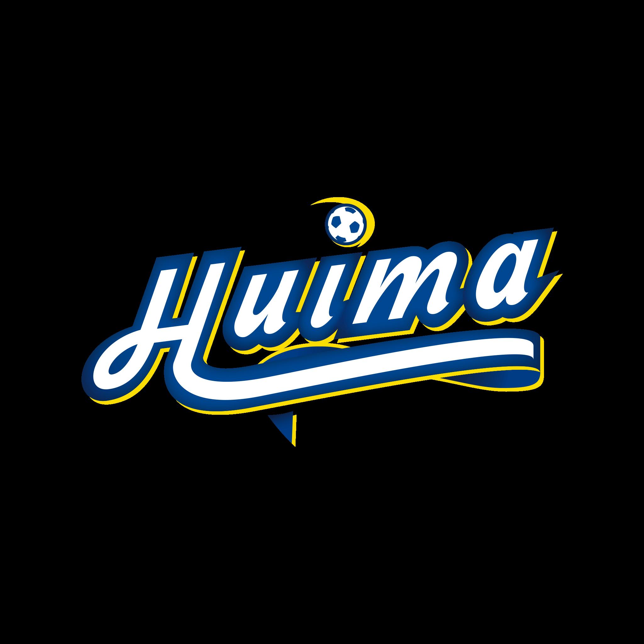 graafinen suunnittelu-äänekosken huima juniorijalkapallo-tekstilogo
