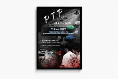 Graafinen suunnittelu, Tapahtumajuliste PTP ry