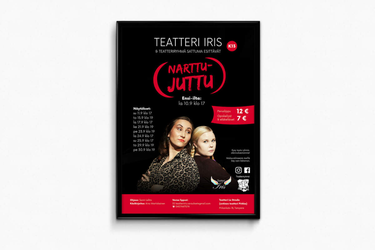 graafinen-suunnittelu-Teatteri-Iris-Narttujuttu-juliste