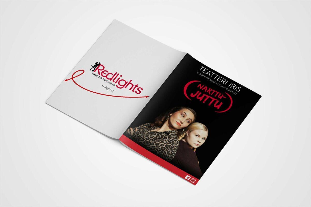 graafinen-suunnittelu-Teatteri-Iris-Narttujuttu käsiohjelma kannet