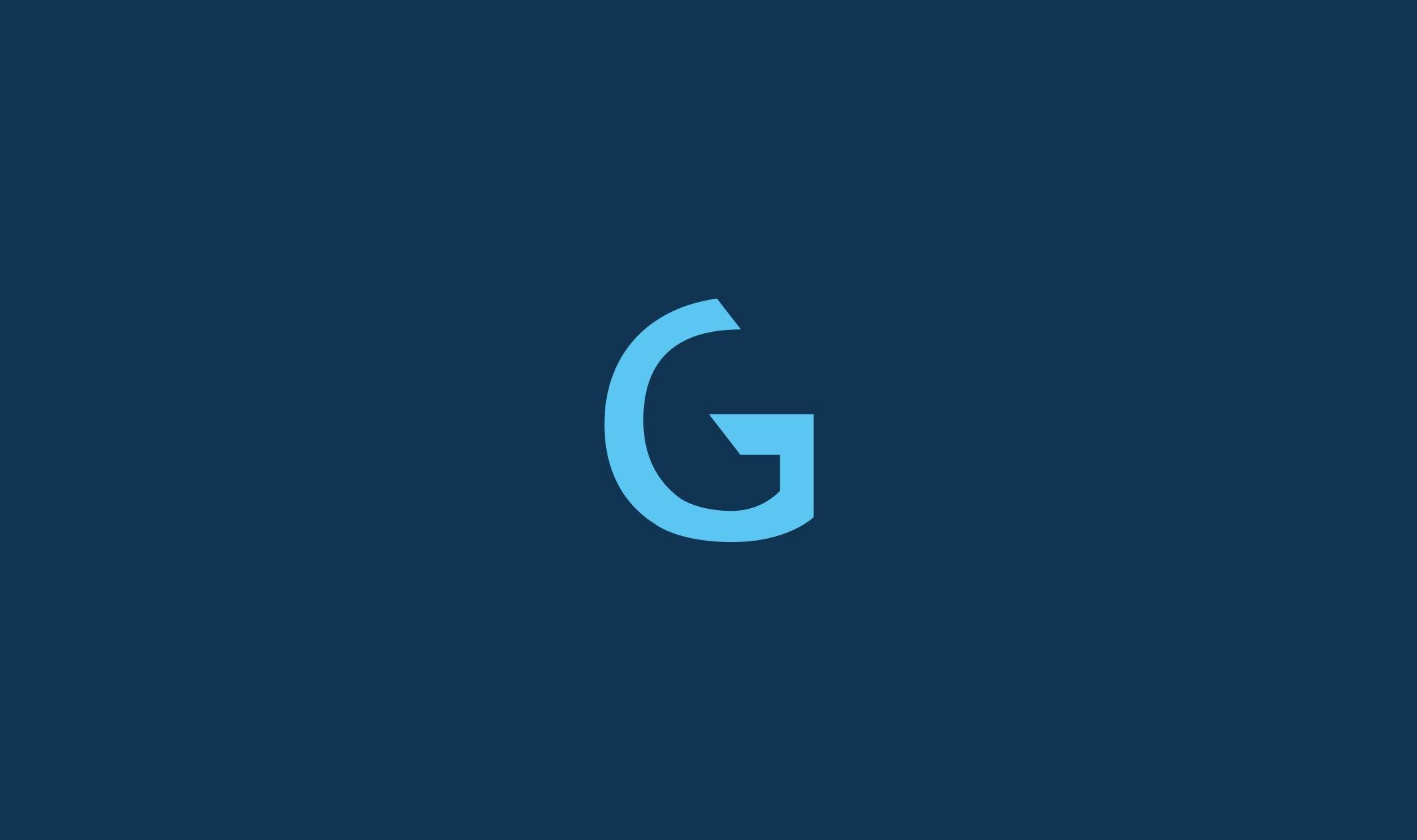 Yritysilmeen suunnittelu-gisgro-symboli-sinisellä-pohjalla